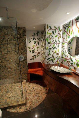 Leaves and Branches Mural contemporary-bathroom