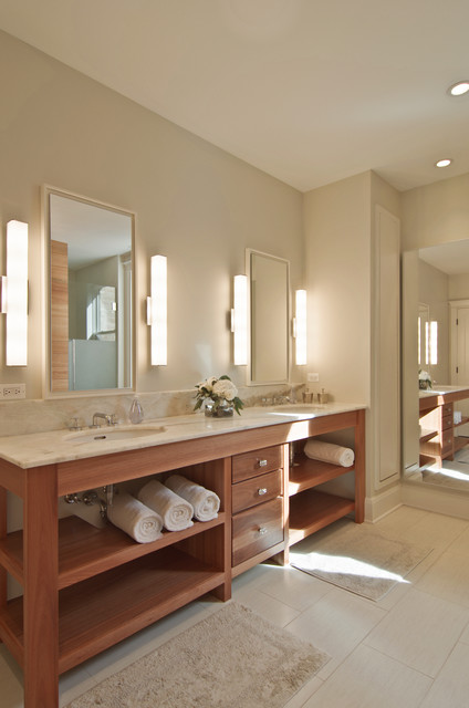 Leavitt residence transitional bathroom chicago by for Bathroom design ltd