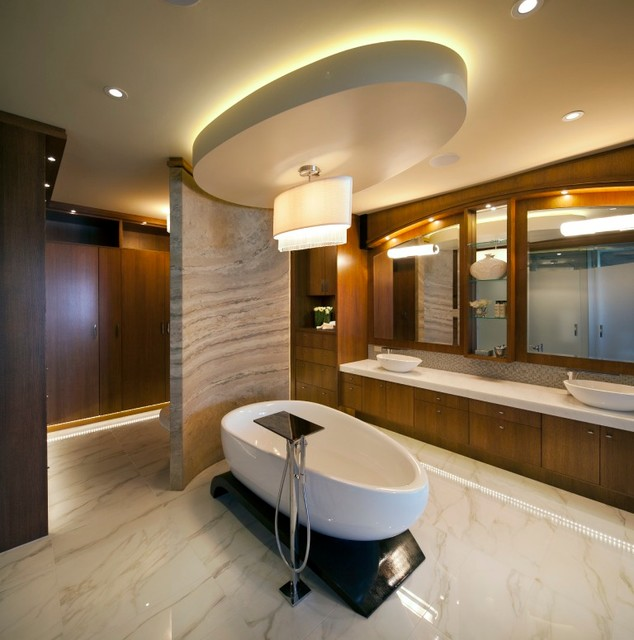 Ledgestone homes aspen showhome contemporary bathroom for Show home bathrooms