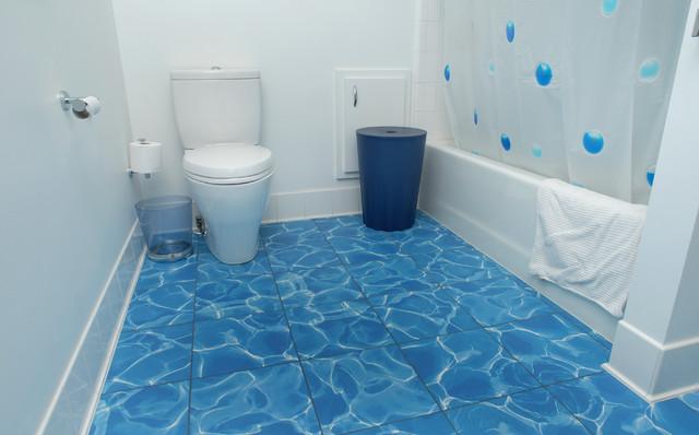 LEED Gold - Houston eclectic-bathroom
