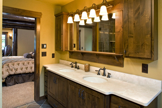 Legacy Lake Home Lac Courte Oreilles Wi Rustic Bathroom Minneapolis By Mark Anthony