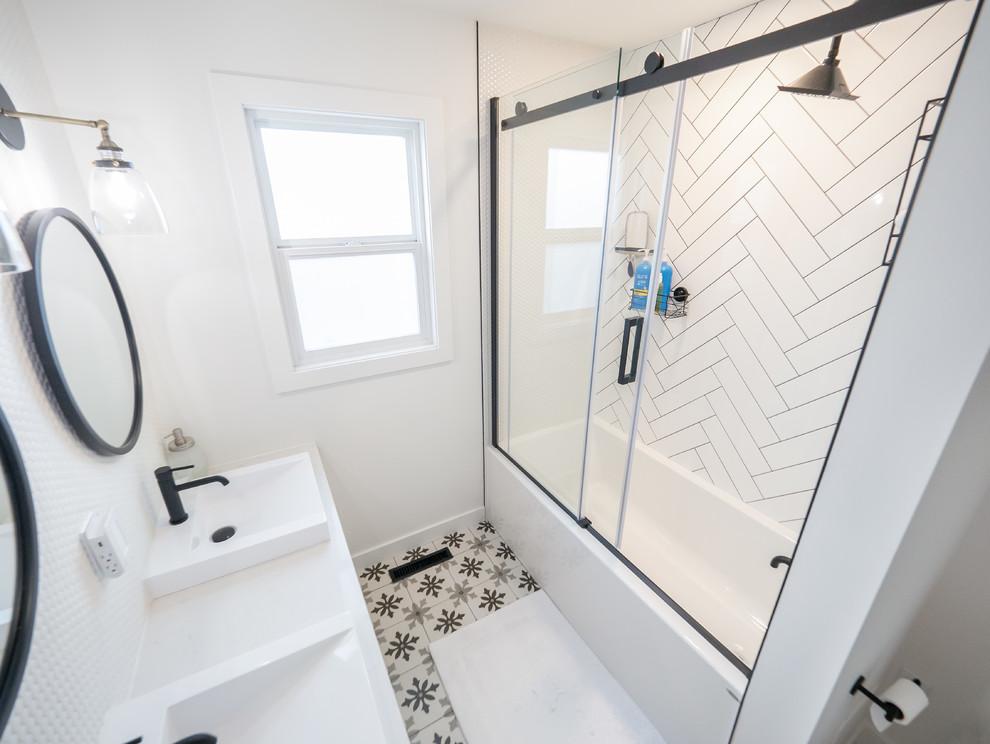 Lendrum Place Renovation - Midcentury - Bathroom ...
