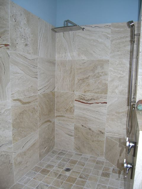 Leonardo Travertine Tiles Modern Bathroom Tampa By