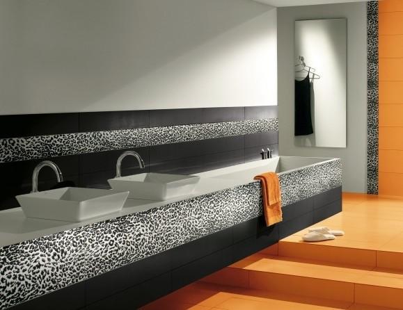 Leopard Bathroom Tile Modern Bathroom
