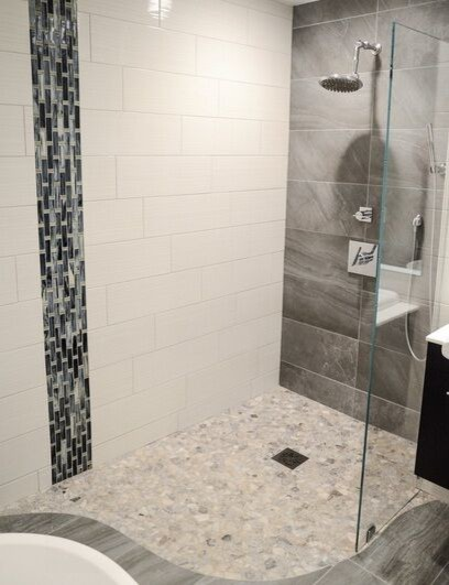 Inspiration for a bathroom remodel in Cleveland
