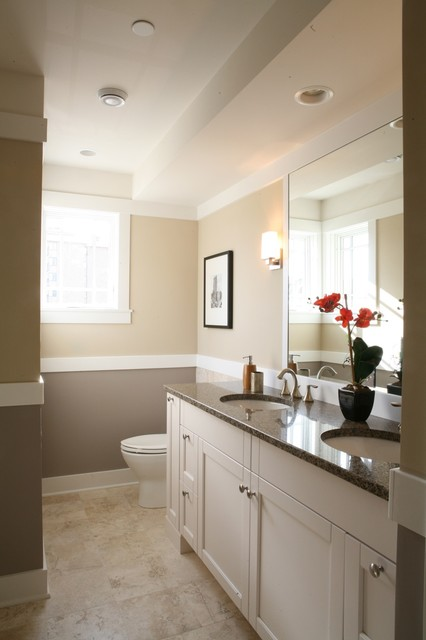 My private place bathroom w neutral wall color for Bathroom remodel color schemes