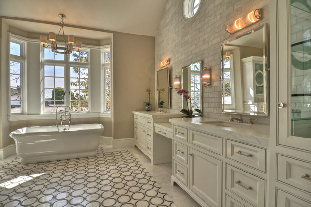 Lido isle home contemporary bathroom orange county by venetian stone gallery for Bathroom mirrors orange county