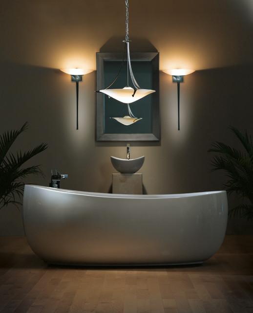 Lifestyle images by hubbardton forge for Hubbardton forge bathroom lighting