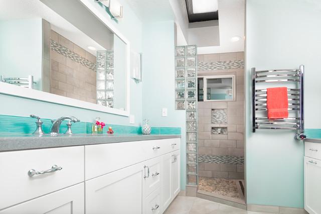 Light Airy Contemporary Bath Contemporary Bathroom