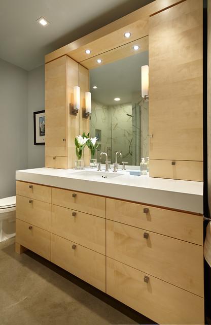 Light Amp Airy Modern Condo Master Bath Modern Bathroom