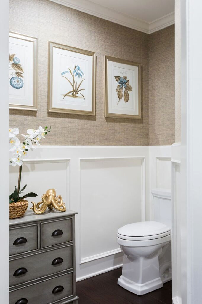 Light and Clean Powder Room