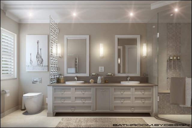 Light And Neutral Bathroom For Period Home Modern Bathroom - Period bathroom lighting