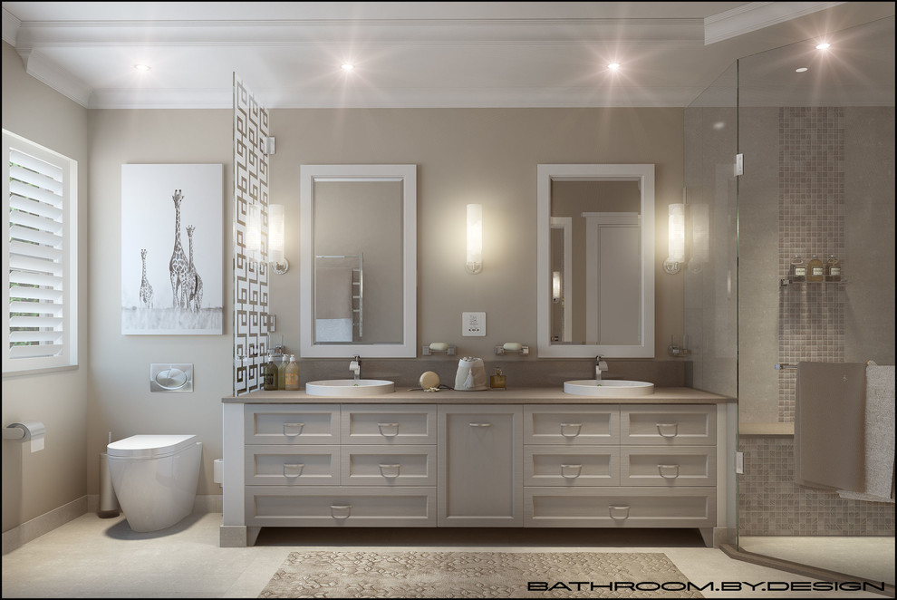 Light and Neutral Bathroom for Period Home. - Modern ...