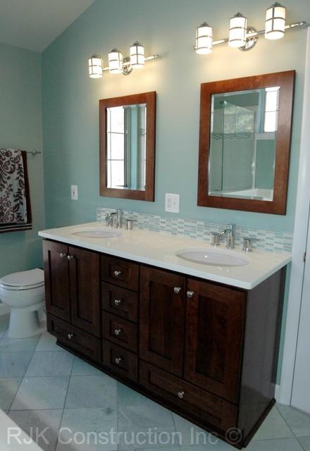 Light Blue Bathroom : Light Blue Bathroom - Contemporary - Bathroom - dc metro - by RJK ...
