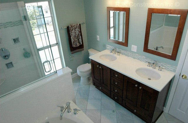 Light Blue Bathroom Contemporary Bathroom Dc Metro By Rjk Construction Inc