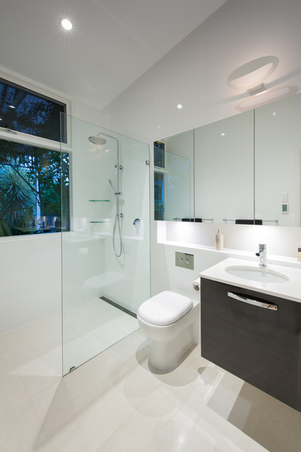 light, minimalist & contemporary bathroom design - modern - bathroom - adelaide -brilliant sa