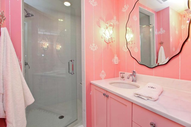 Light Pink Bath traditional bathroom