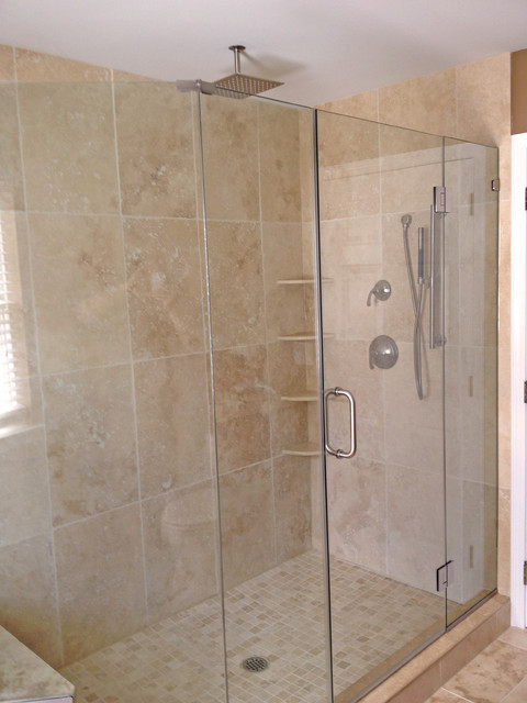 Light Walnut Tumbled Shower Contemporary Bathroom Philadelphia By Stonemar Natural Stone