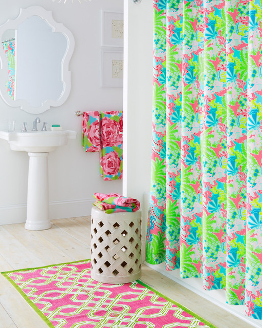 lilly pulitzer bathroom inspiration eclectic bathroom
