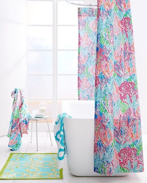 Lilly pulitzer let39s cha cha bathroom for Lilly pulitzer bathroom