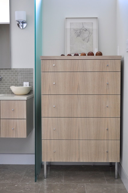 Limed Oak Veneer Furniture Modern Bathroom