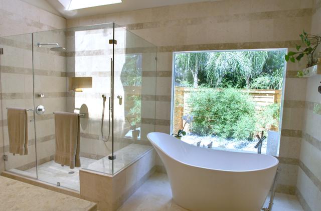 Limerick lane remodel contemporary bathroom houston for Bathroom remodel 10k