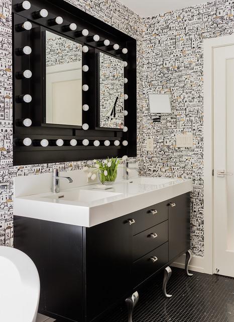 Lincoln classique chic salle de bain boston par - Salle de bain classique chic ...