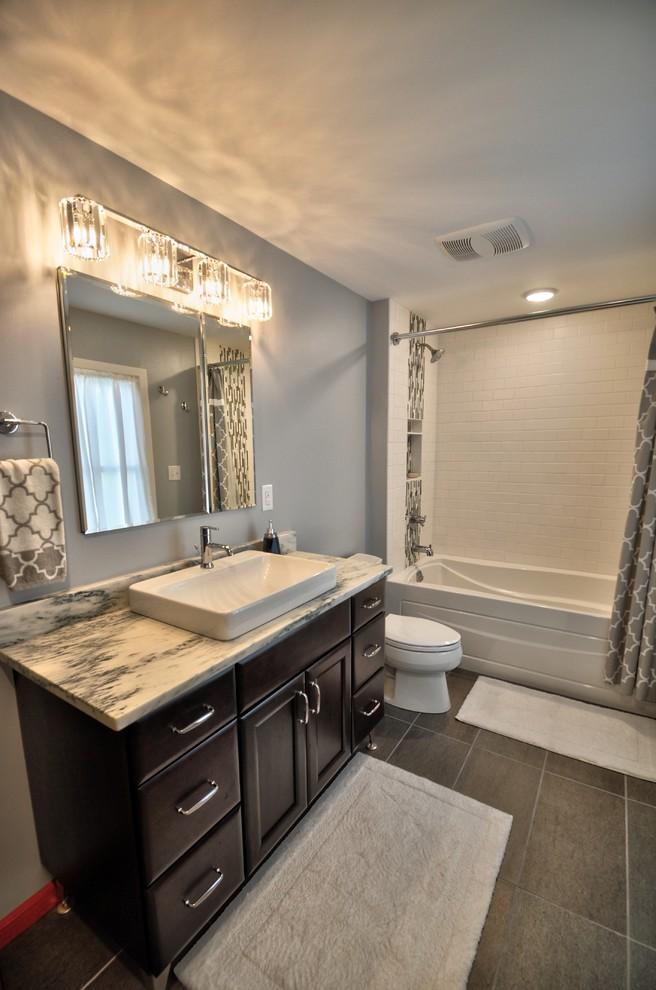 Lincoln Transitional Master Bathroom Remodel ...