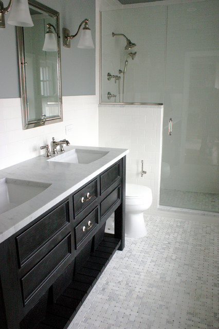 Linden Ave. home renovation eclectic-bathroom