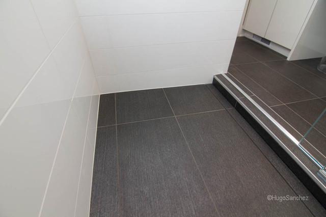 Linear shower drain contemporary-bathroom