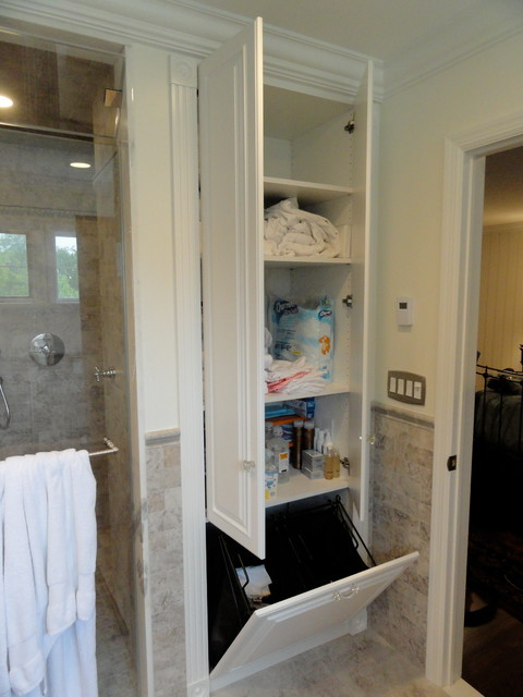 Linen Closets Bathroom Cabinets Traditional Bathroom