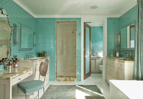 Teal bathroom With an otherwise cool color scheme Not sure its for – Teal Bathroom