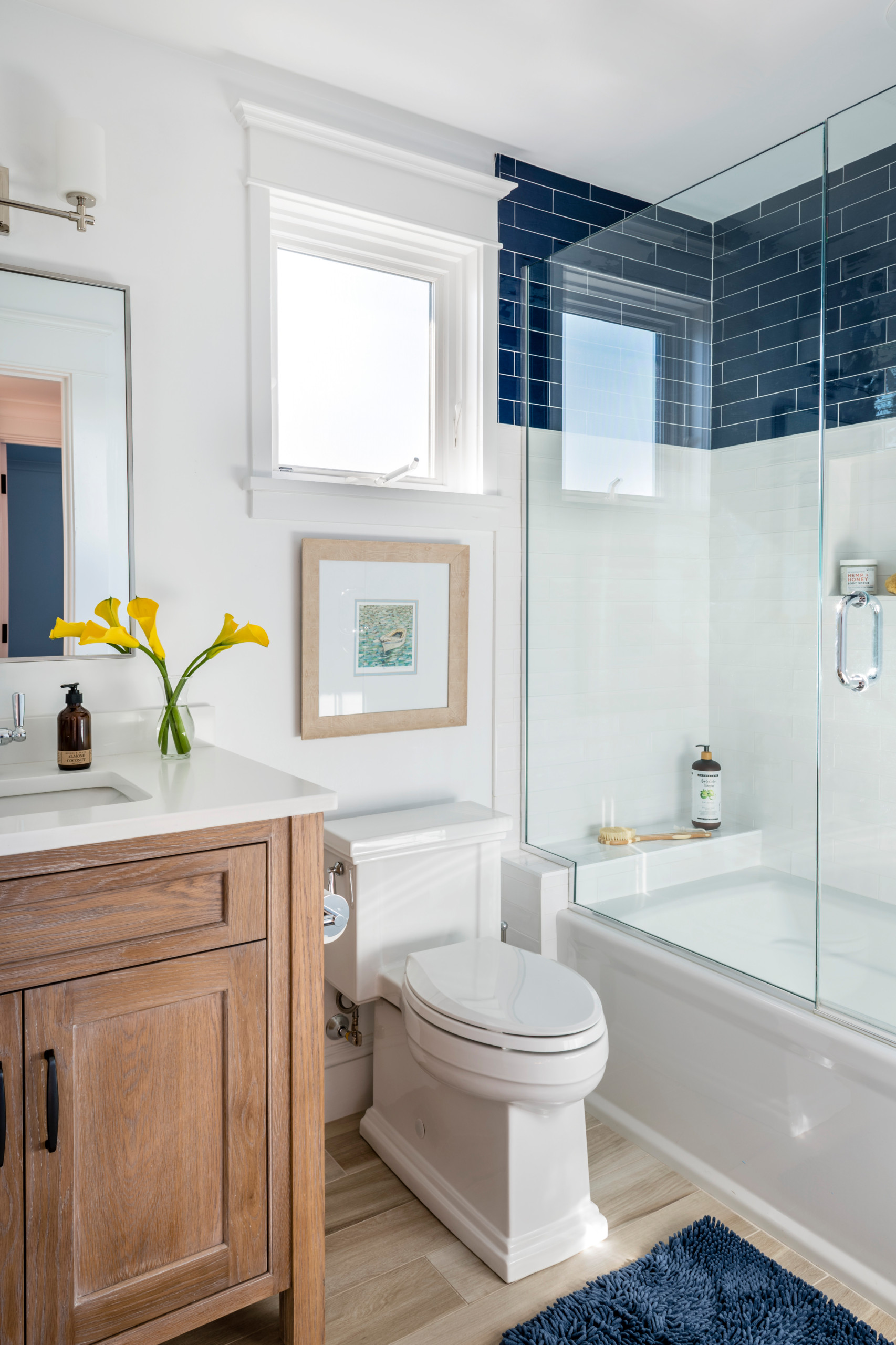 75 Beautiful Blue Tile Bathroom Pictures Ideas February 2021 Houzz