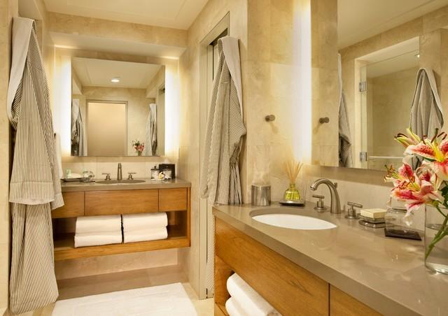 Little Nell Hotel in Aspen, CO contemporary-bathroom