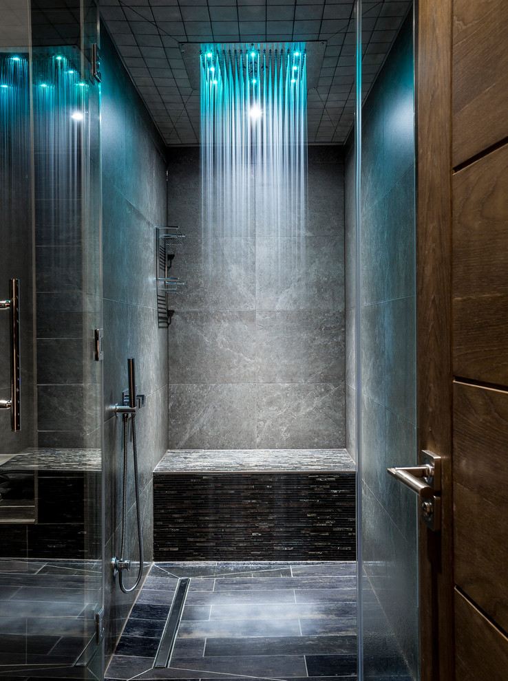 Inspiration for a contemporary bathroom remodel in Kent