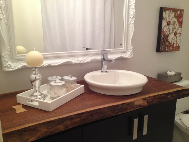 Live Edge Bathroom Countertop Traditional Bathroom Montreal By Bois