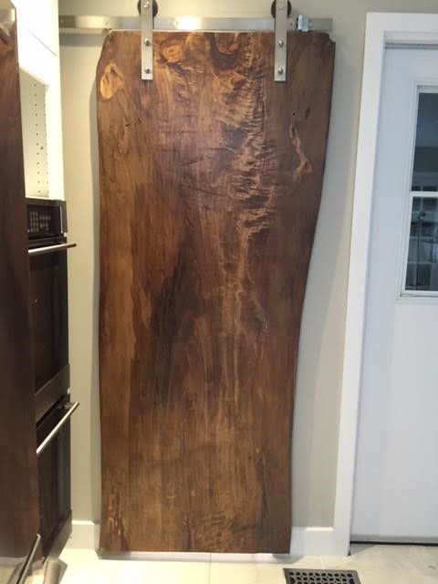 Live Edge Door Wood Slab Doors Sliding Track Doors rustic-bathroom & Live Edge Door Wood Slab Doors Sliding Track Doors - Rustic ...