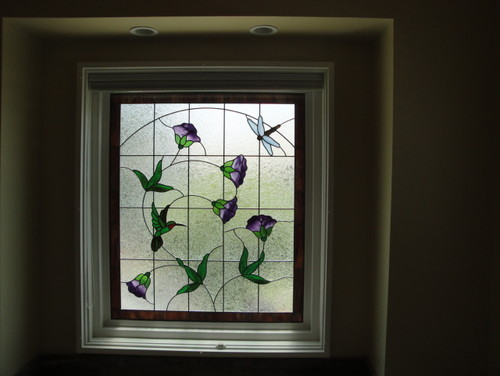 Do You The Pattern For Stained Gl Window In Bathroom