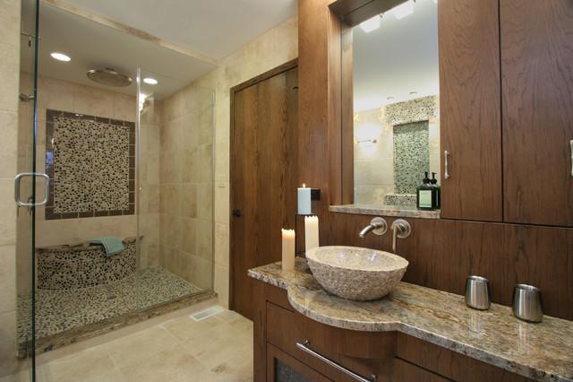 Lodge Contemporary Master Bathroom