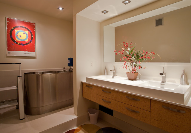 LoDo Loft contemporary-bathroom
