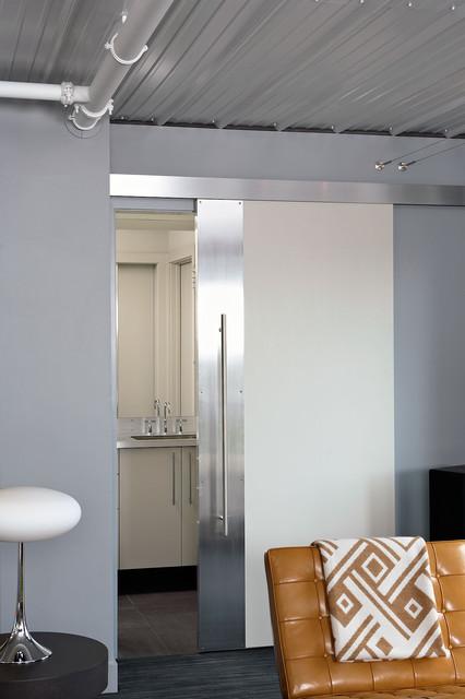 Loft Bath With Sliding Door