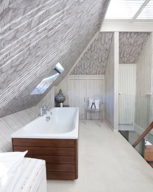 loft bedroom modern bathroom hampshire by walk interior rh houzz com bathroom in small attic space bathroom vent in attic