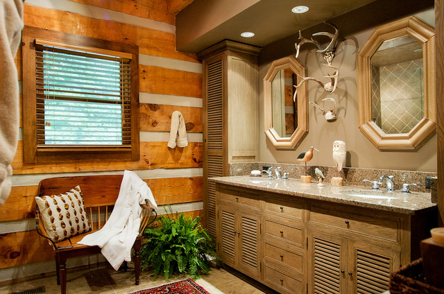 Log cabin bath traditional bathroom nashville by