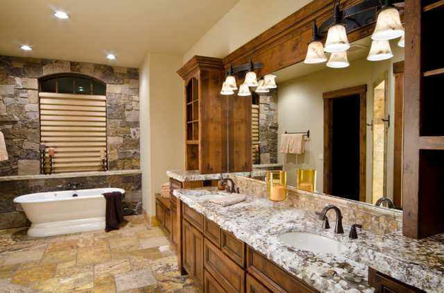 Http Www Houzz Com Photos 1249181 Log Cabin Bathroom Traditional Bathroom Other Metro