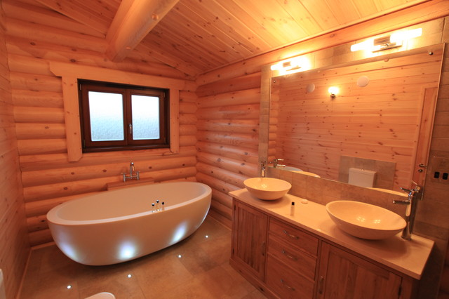 Log cabin bathroom for Log cabin bathroom pictures