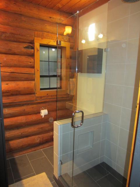 log cabin bathrooms contemporary bathroom seattle by nw homeworks. Black Bedroom Furniture Sets. Home Design Ideas
