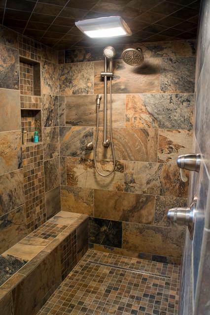 Log Cabin Remodel Addition Traditional Bathroom Denver