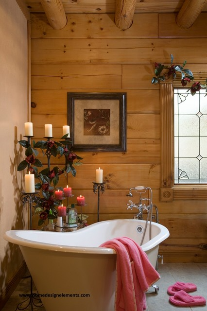log home bathroom ideas