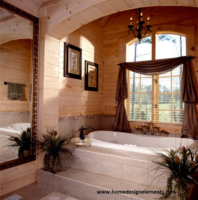 log home tysinger traditional bathroom other by