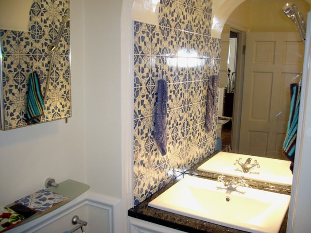London bathroom with our portuguese traditional tiles for Bathroom ideas london
